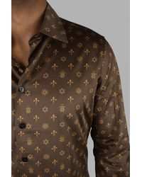 Billionaire Ls Milano Casino Shirt - Brown