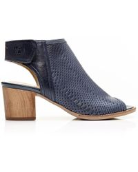Moda In Pelle - Laurini Navy Leather - Lyst