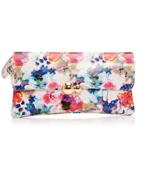 Moda In Pelle - Narelliclutch Floral Leather - Lyst
