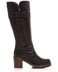 Moda In Pelle - Giano Black Leather - Lyst