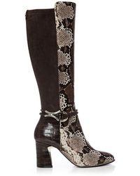 Moda In Pelle Lizereti Brown Snake Print
