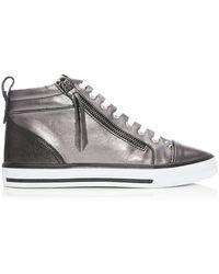 Moda In Pelle Estarni Pewter Leather - Metallic