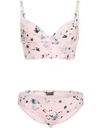 Proenza Schouler - Underwired Floral-print Bikini Set - Lyst