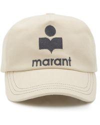Isabel Marant Tyron Embroidered Baseball Cap - White
