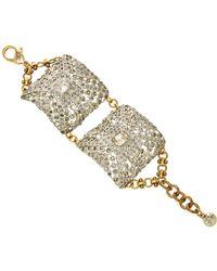 Lulu Frost One-of-a-kind Art Deco Buckle Bracelet - Metallic