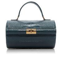 GU_DE Richie Croc-effect Leather Bag - Blue