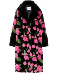 Stand Studio Liliana Floral-print Faux Fur Coat - Multicolour