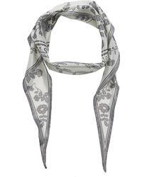 Acne Studios Varia Printed Silk-blend Lamé Scarf - White