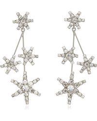 Jennifer Behr Saros Crystal-embellished Rhodium-plated Earrings - Metallic