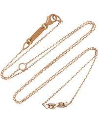 Suzanne Kalan - Diamond Bar 18k Rose Gold Necklace - Lyst