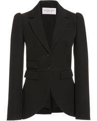 Michael Kors Puffed-sleeve Gabardine Blazer - Black