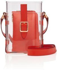 OFFICINA DEL POGGIO Mini Safari Acrylic And Leather Shoulder Bag - Red