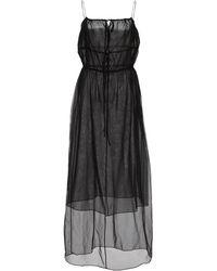 Deitas Felicia Silk Slip Dress - Black