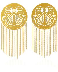 Paula Mendoza | Pacha Gold-plated Brass Earrings | Lyst