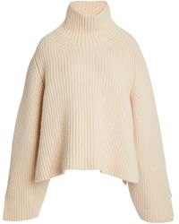 Khaite Molly Ribbed-knit Turtleneck Jumper - Brown