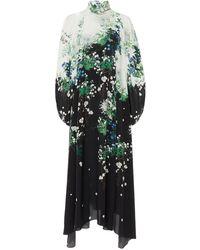 Givenchy Floral-print Silk-chiffon Midi Dress - Multicolor