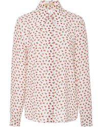 Michael Kors - Floral-print Silk Shirt - Lyst