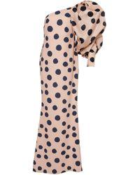 Leal Daccarett Opera One-shoulder Satin Dress - Pink