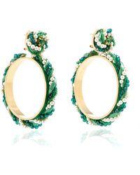 Shourouk - Riri Green Earrings - Lyst
