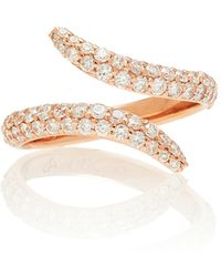 Carbon & Hyde Viper Rose-gold Diamond Ring - Pink