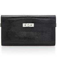 Hermès Hermes Black Lizard Kelly Wallet