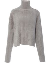 Sally Lapointe - Chenille Boxy Turtleneck Sweater - Lyst