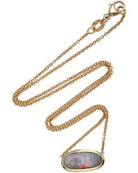 Kimberly Mcdonald - 18k Gold Boulder Opal Necklace - Lyst