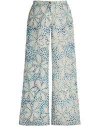 Ciao Lucia Orlando Wide Leg Floral Pant - Blue