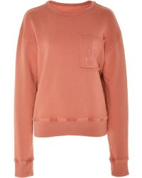 JW Anderson - Frayed Embroidered Cotton-jersey Sweatshirt - Lyst