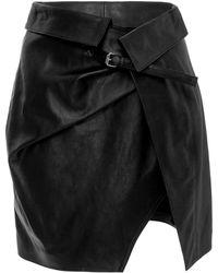 Isabel Marant - Leather Mini Skirt - Lyst