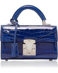 a911a374cd5b17 Chanel Pre-owned Boy Alligator Handbag in Black - Lyst