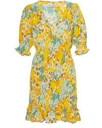 Faithfull The Brand Margheita Mini Dress - Yellow