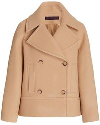 Martin Grant Wool-blend Double-breasted Pea Coat - Brown