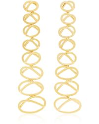 Joanna Laura Constantine | Gold-plated Dangling Knot Earrings | Lyst