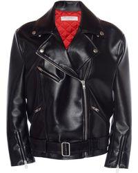 Philosophy Di Lorenzo Serafini Oversized Biker Jacket - Black