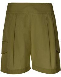 Matin Sant Elm Cotton-twill Shorts - Green