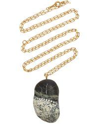 CVC Stones Surreal 18k Gold, Diamond And Stone Necklace - Multicolour