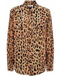 Blazé Milano Simba Berber Leopard Silk Shirt - Multicolour