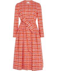 Delpozo - Gathered Tweed Coat - Lyst