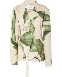 Johanna Ortiz - Seriously Tropical Printed Cotton-sateen Blazer - Lyst