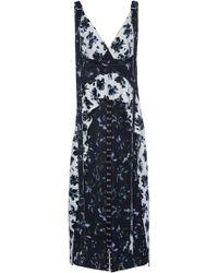 Proenza Schouler - Printed Matte Satin Dress - Lyst