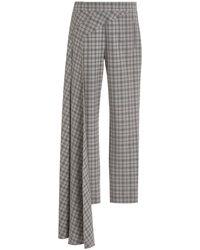 Hellessy Nasir Checkered Cigarette Pants - Grey