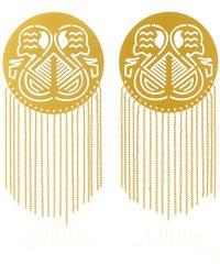 Paula Mendoza - Pacha Gold-plated Brass Earrings - Lyst