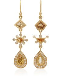Kothari - Mismatched 18k Gold And Diamond Earrings - Lyst