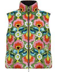 Moncler Genius Exclusive 8 Moncler Richard Quinn Liza Floral Technical Vest - Multicolour