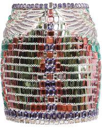 Balmain Crystal-embellished Mini Skirt - Multicolour