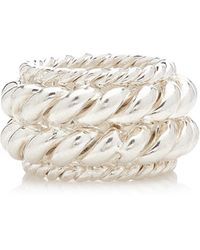 ISABEL LENNSE Twisted Spin Sterling Silver Ring - Metallic