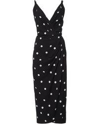 Dolce & Gabbana Polka-dot Cady Dress - Black