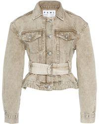 Proenza Schouler Belted Denim Jacket - Natural