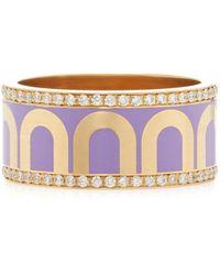 Davidor L'arc 18k Yellow-gold Ring - Purple